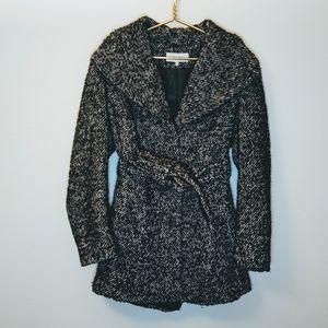 Grey Tweed Calvin Klein peacoat jacket